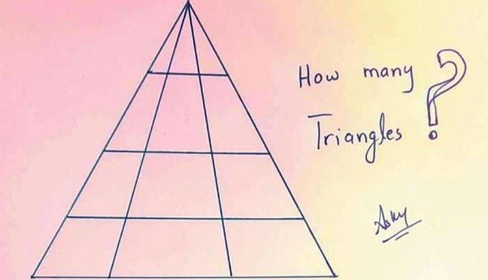 hur många trianglar finns på bilden