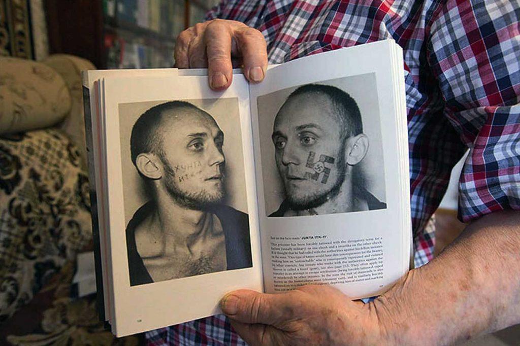Ryska fängelsetatueringar - Arkady dokumenterade fångarnas tatueringar