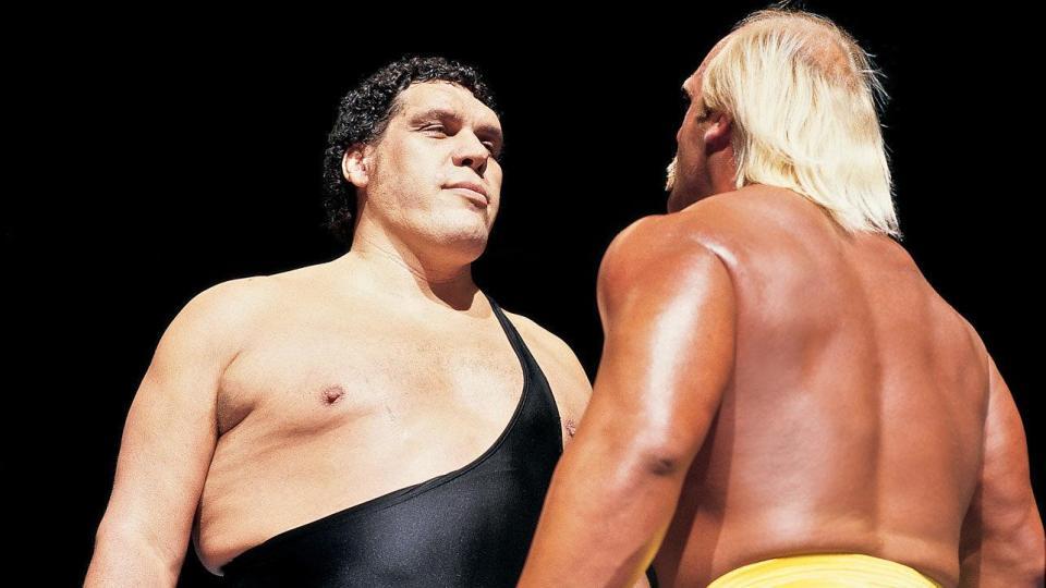Hulk Hogan med sin vän Andre