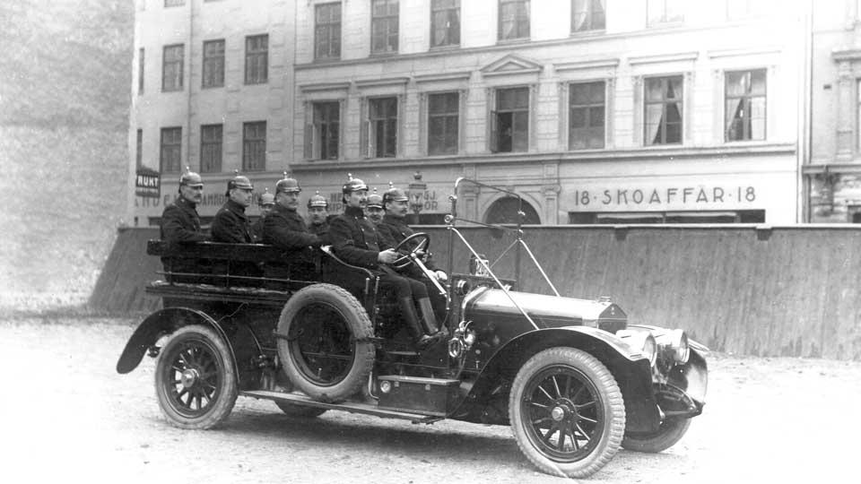 Polisens första bil, en Scania Vabis